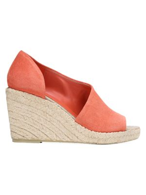 Vince Sonora Peep-Toe Suede Espadrille Wedge Sandals