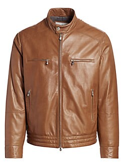 bb3fe1ffe Product image. QUICK VIEW. Brunello Cucinelli. Leather Moto Jacket