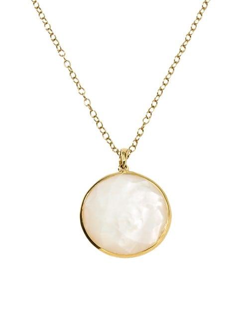 Lollipop® Medium 18K Yellow Gold & Mother-Of-Pearl Doublet Pendant Necklace
