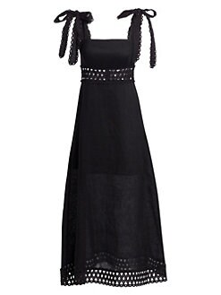 53582ea0f98b QUICK VIEW. Zimmermann. Verity Tie Shoulder Linen Maxi Dress
