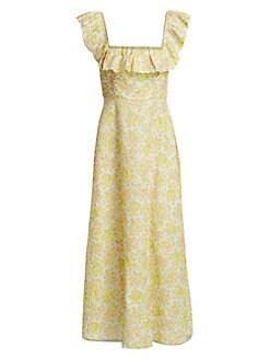 79aaa1bb58965 QUICK VIEW. Zimmermann. Goldie Ruffled Floral Linen Maxi Dress
