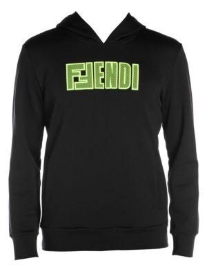 Fendi Logo Mesh Sweatshirt