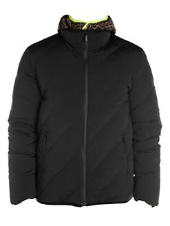 f8a10ac446c7 Fendi. Reversible FF   Quilted Down Puffer Jacket