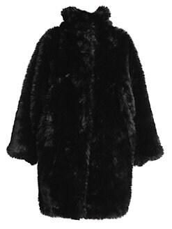 fa2996b19c16 Balenciaga. Oversize Faux-Fur Coat