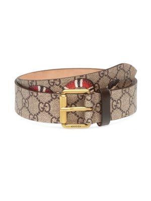 1c60855a8 Gucci GG Supreme Belt with Kingsnake Print