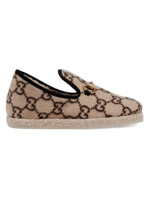 fe4d3cd3563be Gucci - Princetown Fur-Lined Leather Slipper - saks.com