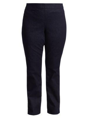 Nydj Plus Size Marilyn Straight Pull On Jeans