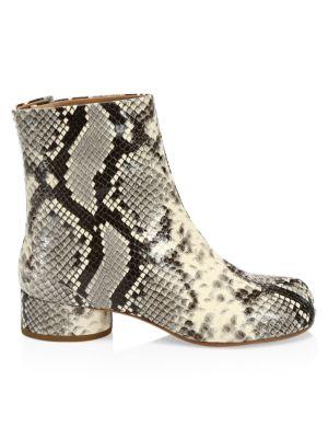 Maison Margiela Tabi Snake Embossed Leather Boots