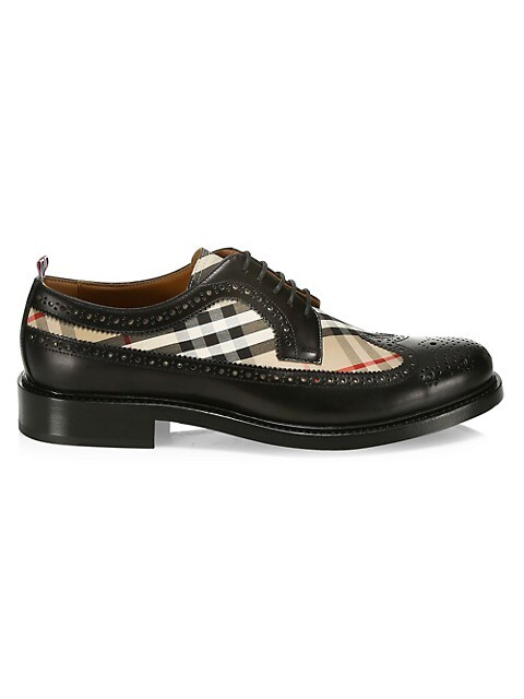 Burberry Arendale Check & Leather Brogues
