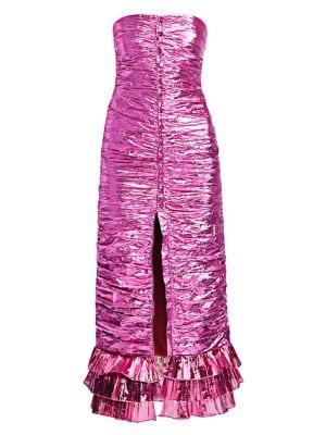 905de9b32 Attico - Floral Jacquard Draped Mini Dress - saks.com
