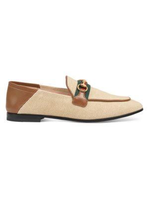 daef9f60b Gucci - Brixton Leather Horsebit Loafers - saks.com