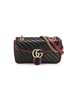 8d33b6431 QUICK VIEW. Gucci. Small GG Marmont Leather Shoulder Bag