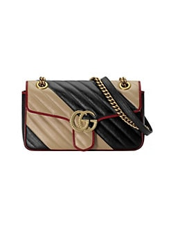 cdc9af503fb Gucci. Small GG Marmont 2.0 Leather Shoulder Bag