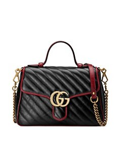cec2ea3be3d Gucci. Small GG Marmont 2.0 Leather Top Handle Bag