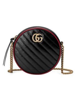 Gucci Mini Gg Marmont 2 0 Leather Camera Bag