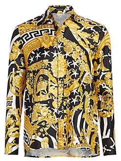 bfdf0c92b Product image. QUICK VIEW. Versace. Savage Baroque Silk Collared Blouse