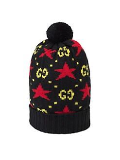 aabc60fd94548 Gucci. GG Star Wool Pom-Pom Hat