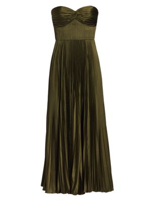 Amur Dresses Pleated Strapless Belle Dress