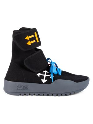 Off White Moto Wrapped Hi Top Sneakers