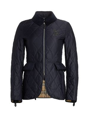 34b79ceacc25 Burberry - Ongar Equestrian Quilted Long Jacket - saks.com