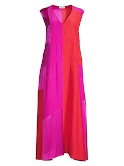 f6c8cad7550 Lotta Sleeveless Silk Maxi Dress FUSHIA POPPY RED. QUICK VIEW. Product image