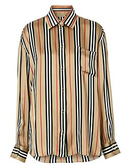 c29ec83dafde6f Burberry. Godwit Icon Stripe Silk Shirt