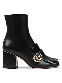 4fe36dd3d69 Gucci. Marmont Leather Boots