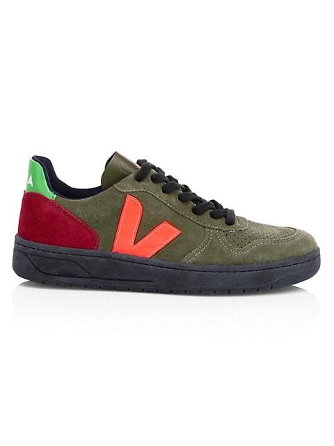 V-10 Bastille Colorblock Suede Sneakers
