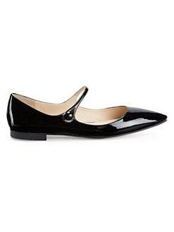 3f4866ec72c9 QUICK VIEW. Prada. Patent Leather Mary Jane Flats