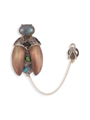 Alexis Bittar Multi Stone Baby Scarab Pin