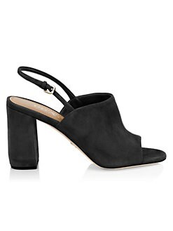 edba11359e69 Prada. Block Heel Slingback Sandals