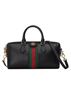 af8e016a8242 QUICK VIEW. Gucci. Medium Ophidia Leather Top Handle Bag
