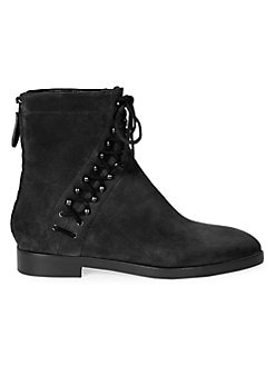 408a9dd882 Product image. QUICK VIEW. Alaïa. Suede Lace-Up Booties