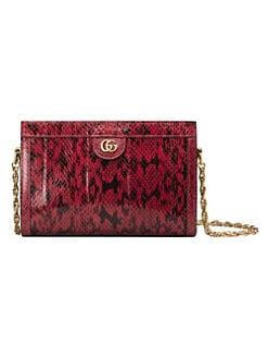 09329e2104b Gucci. Small Ophidia Snakeskin Shoulder Bag