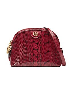 0ec08801ae89 Small Ophidia Snakeskin Shoulder Bag RED. QUICK VIEW. Product image