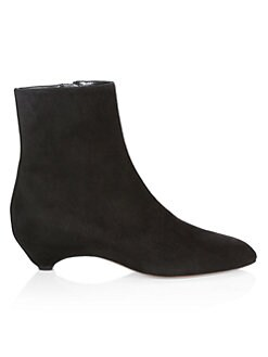 f4e81472aec8 Alaïa. Side Lace-Up Suede Boots