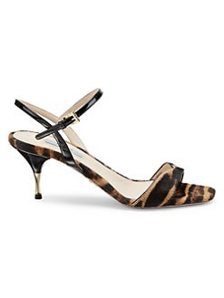 2ded9dc12413 Product image. QUICK VIEW. Prada. Cavolino Leopard Print Calf Hair Sandals