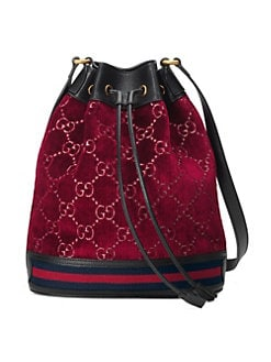 2c39d8d6b284 Product image. QUICK VIEW. Gucci. GG Velvet Bucket Bag