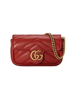 bf273ced4d1 Gucci. Super Mini GG Marmont 2.0 Leather Bag