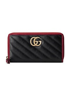 7b646de549e Gucci. GG Marmont Zip-Around Leather Wallet