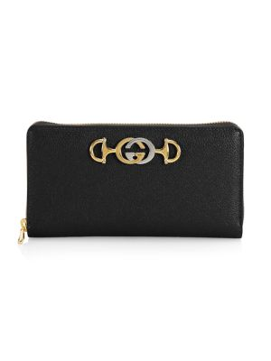 Gucci Wallets Zumi Leather Wallet