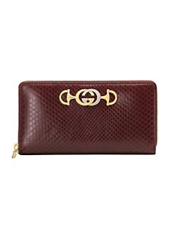 244c9ef4420 Gucci. Gucci Zumi Python Zip-Around Wallet