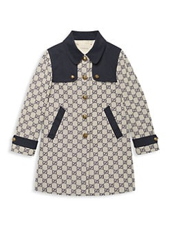 0c145f4d QUICK VIEW. Gucci. Little Girl's & Girl's GG Canvas Trench Coat