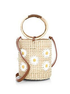 fc17177c7bc1 QUICK VIEW. Poolside. The Bobby Daisy Embroidered Wicker Ice Bucket Bag