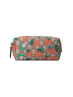 879b8be43c9 Gucci. GG Cosmetic Case with Gucci Strawberry Print
