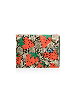 6b904315dd6d50 Gucci - GG Card Case with Gucci Strawberry Print
