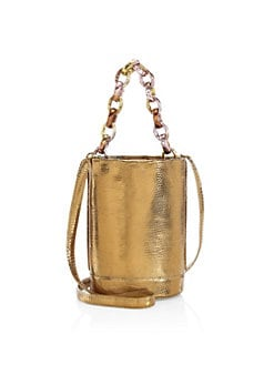 9338d890dc QUICK VIEW. Nancy Gonzalez. Small Jojo Chain Metallic Python & Lizard Bucket  Bag. $1850.00. Pre-Order. NEW. Leather Bucket Bag BLACK