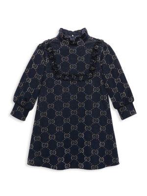 Gucci Little Girl S Girl S Gg Lam Dress
