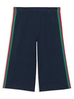 49145c1099 Gucci. Little Girl's & Girl's Web Trim Jogging Pants