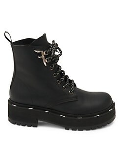 4cb705fb5959 Leather Combat Boots BLACK. QUICK VIEW. Product image